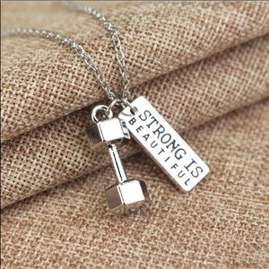 Jewelry - Necklace with Dumbbell Charm